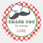 Pizza Party Favor Sticker