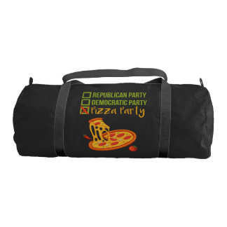Pizza Party - Funny Novelty Voting Political Duffle Bag