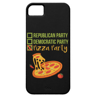 Pizza Party - Funny Novelty Voting Political iPhone SE/5/5s Case