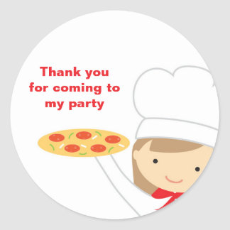 Pizza Party Girl Stickers
