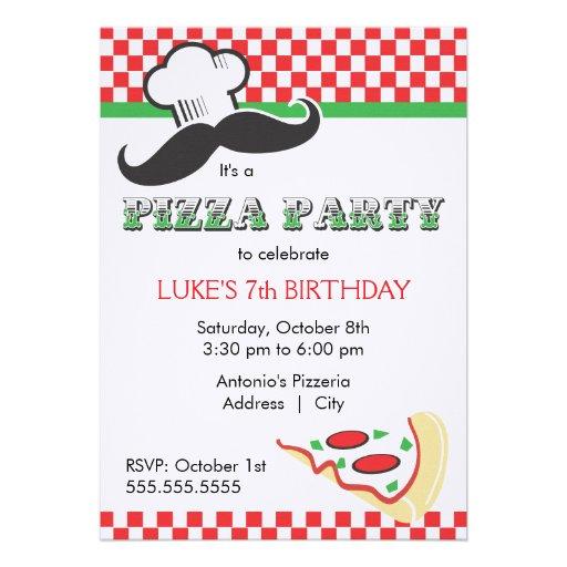 pizza party invitation template .