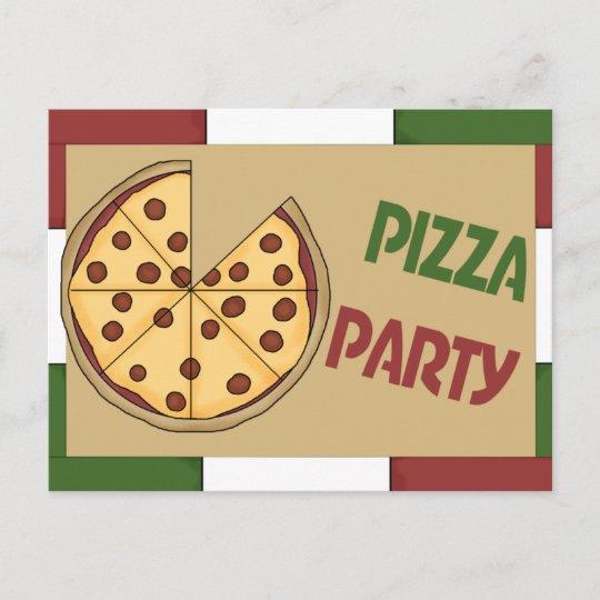 Pizza Party Invitation Zazzle Com