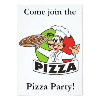 pizza party invitation2 card