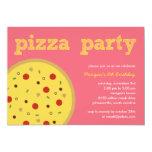 Pizza Party Invitation (Pink) Custom Invites