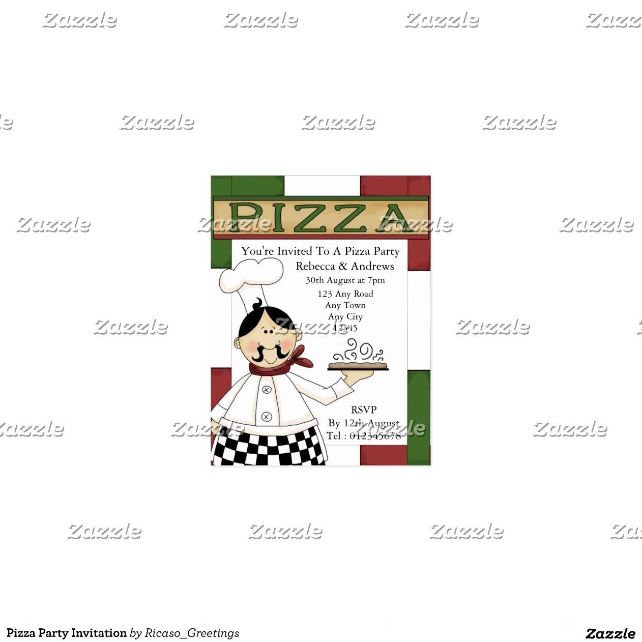 Invitation Letter For Staff Party Invitation Librarry Modern Pizza ...