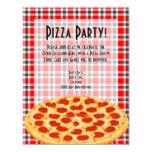 Pizza Party Invitation, Tablecloth Design