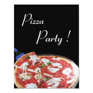 PIZZA PARTY, ITALIAN KITCHEN dinner, brunch 4.25x5.5 Paper Invitation Card