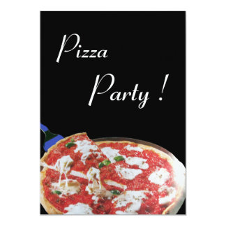 PIZZA PARTY, ITALIAN KITCHEN dinner, brunch 5x7 Paper Invitation Card