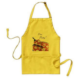 PIZZA PARTY, ITALIAN KITCHEN dinner, brunch Adult Apron