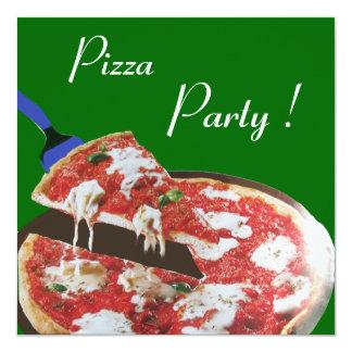 PIZZA PARTY, ITALIAN KITCHEN dinner, brunch,green Invitation