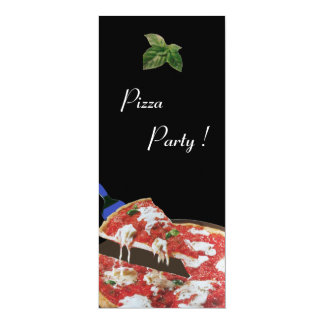 "PIZZA PARTY, ITALIAN KITCHEN dinner, brunch 4"" X 9.25"" Invitation Card"
