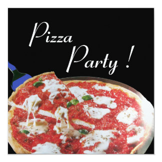 PIZZA PARTY, ITALIAN KITCHEN dinner, brunch Personalized Announcements