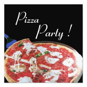 retro pizza party invitations zazzle