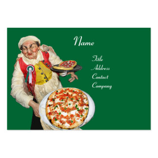 PIZZA PARTY ITALIAN KITCHEN, PIZZERIA ,black green Large Business Card