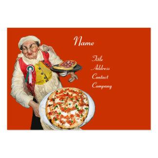 PIZZA PARTY ITALIAN KITCHEN,PIZZERIA ,black orange Large Business Card