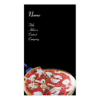 PIZZA PARTY ITALIAN KITCHEN, RESTAURANT ,black red Business Card