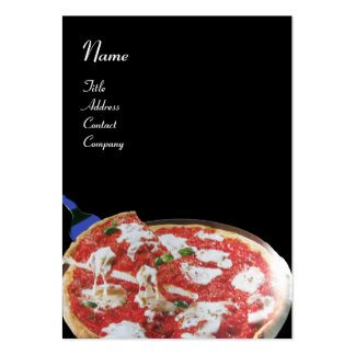 PIZZA PARTY ITALIAN KITCHEN, RESTAURANT ,black red Large Business Card