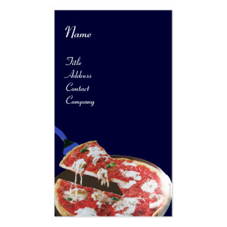 PIZZA PARTY ITALIAN KITCHEN, RESTAURANT ,blue red Business Card
