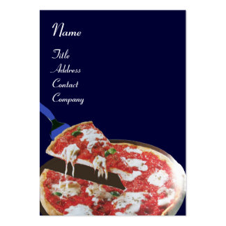 PIZZA PARTY ITALIAN KITCHEN, RESTAURANT ,blue red Large Business Card