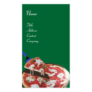 PIZZA PARTY ITALIAN KITCHEN, RESTAURANT ,green red Business Card