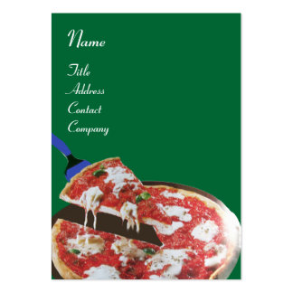 PIZZA PARTY ITALIAN KITCHEN, RESTAURANT ,green red Large Business Card