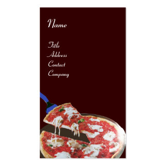 PIZZA PARTY ITALIAN KITCHEN, RESTAURANT red brown Business Card