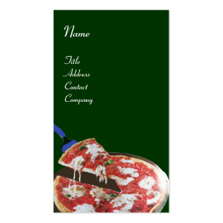 PIZZA PARTY ITALIAN KITCHEN, RESTAURANT red green Business Card