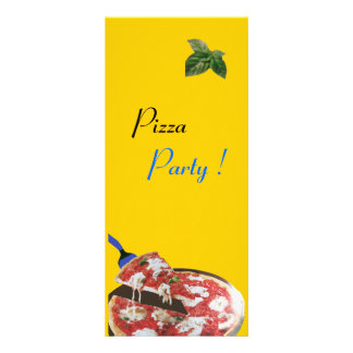 PIZZA PARTY ITALIAN KITCHEN, RESTAURANT red green Custom Rack Cards