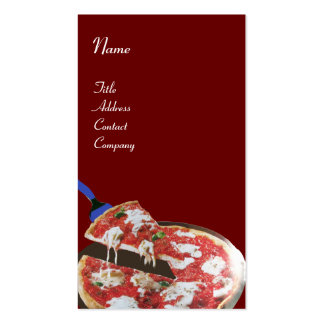 PIZZA PARTY ITALIAN KITCHEN, RESTAURANT red white Business Card