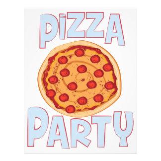 Pizza Party Letterhead