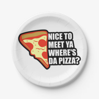 Pizza Party Paper Plate