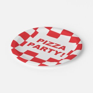 """""""Pizza Party"""" Paper Plates"""