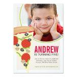 Pizza Party Photo Birthday Invitation Custom Invites