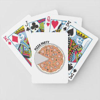 Pizza Party Bicycle Playing Cards