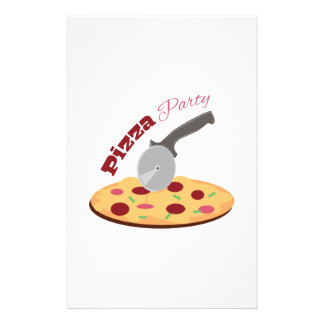 Pizza Party Stationery
