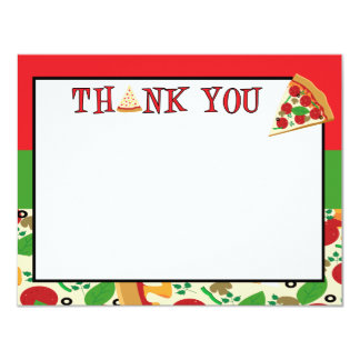 Pizza Party Thank You Card