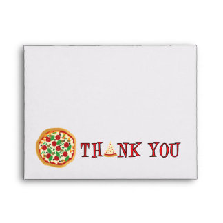 Pizza Party Thank You Envelope