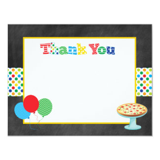 Pizza Party Thank You Note Card