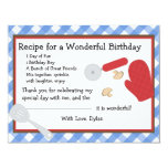 Pizza Party Thank You Note 4.25x5.5 Paper Invitation Card