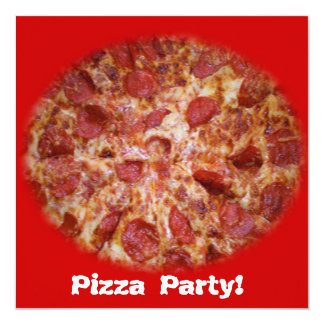 Pizza Party Time Invitation