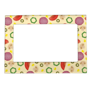 Pizza Pattern 2 Magnetic Frame