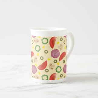 Pizza Pattern 2 Bone China Mug