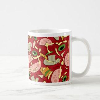 Pizza pattern coffee mug