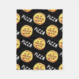 Pizza Pattern Fleece Blanket