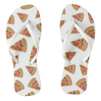 Pizza Pattern Flip Flops