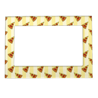 Pizza Pattern Magnetic Picture Frame