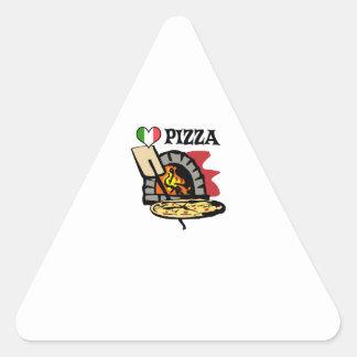 PIZZA PEGATINA TRIANGULAR