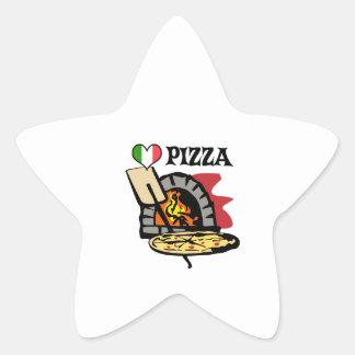 PIZZA PEGATINA EN FORMA DE ESTRELLA