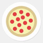 pizza pegatina redonda