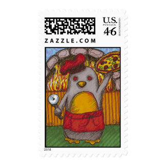 Pizza Penguin Stamps